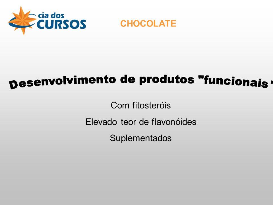 CHOCOLATE Com fitosteróis Elevado teor de flavonóides Suplementados