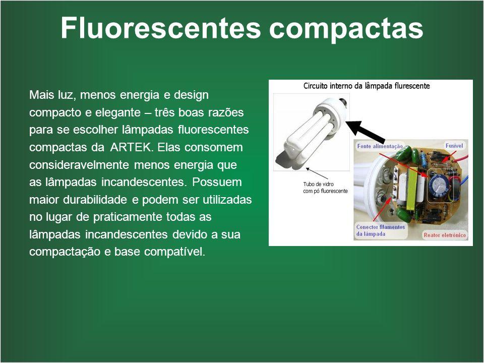 Fluorescentes compactas Mais luz, menos energia e design compacto e elegante – três boas razões para se escolher lâmpadas fluorescentes compactas da A