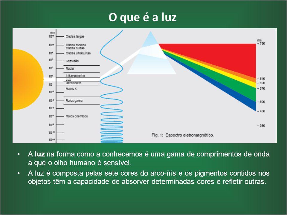 O que é a luz A luz na forma como a conhecemos é uma gama de comprimentos de onda a que o olho humano é sensível. A luz é composta pelas sete cores do