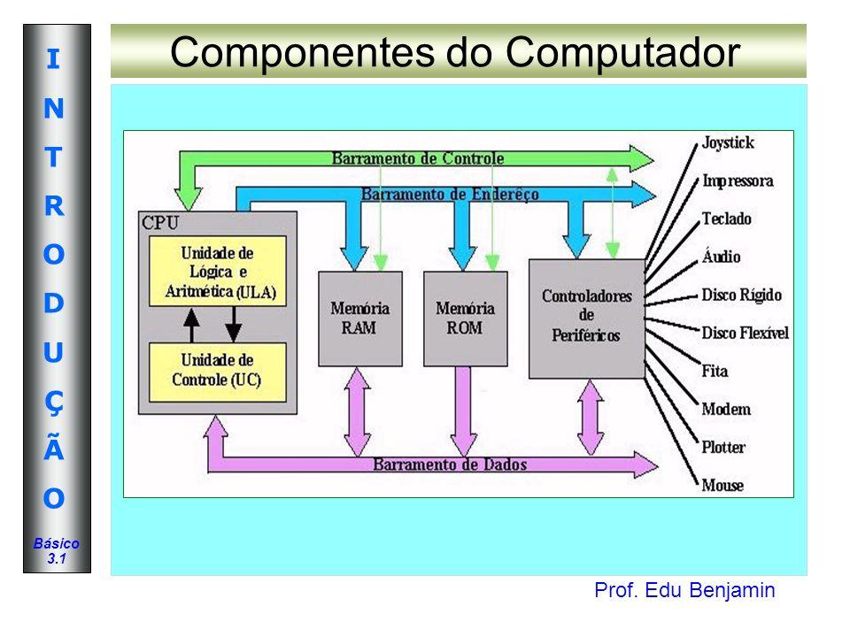 Prof. Edu Benjamin INTRODUÇÃOINTRODUÇÃO Básico 3.1 Componentes do Computador