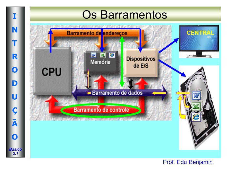 Prof. Edu Benjamin INTRODUÇÃOINTRODUÇÃO Básico 3.1 Os Barramentos CENTRAL