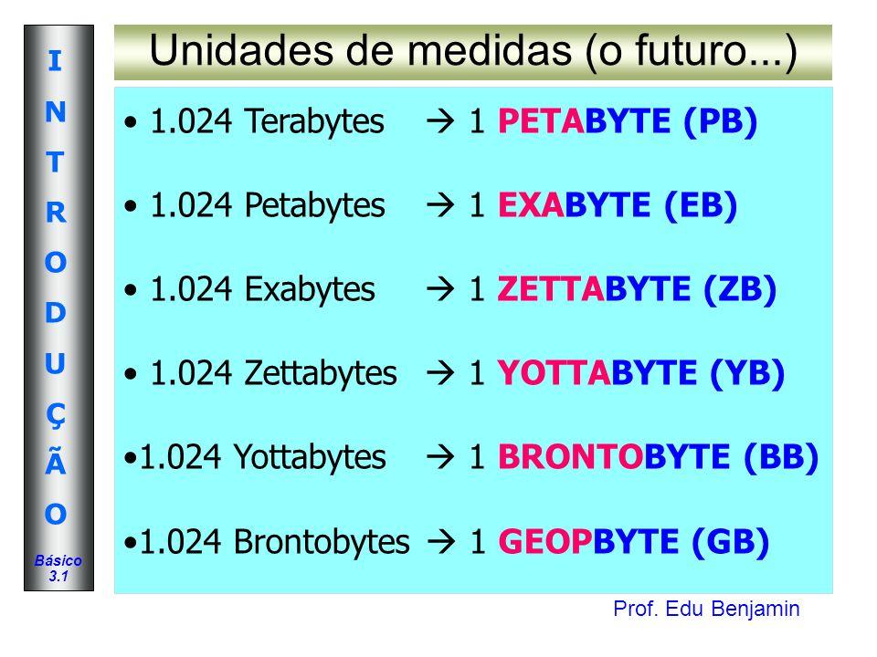 Prof. Edu Benjamin INTRODUÇÃOINTRODUÇÃO Básico 3.1 Configurando a BIOS