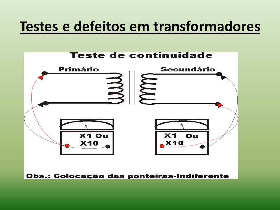 Testes e defeitos em transformadores