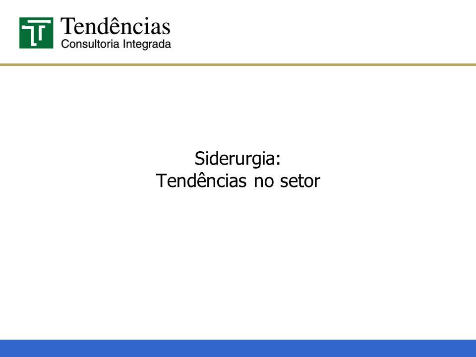 Macroeconomia, Política, Setorial e Projetos China representa apenas 0,6% do comércio brasileiro em 2006 Destino das exportações siderúrgicas brasileiras e projeção do consumo aparente para 2007 Fonte: IISI e SECEX.