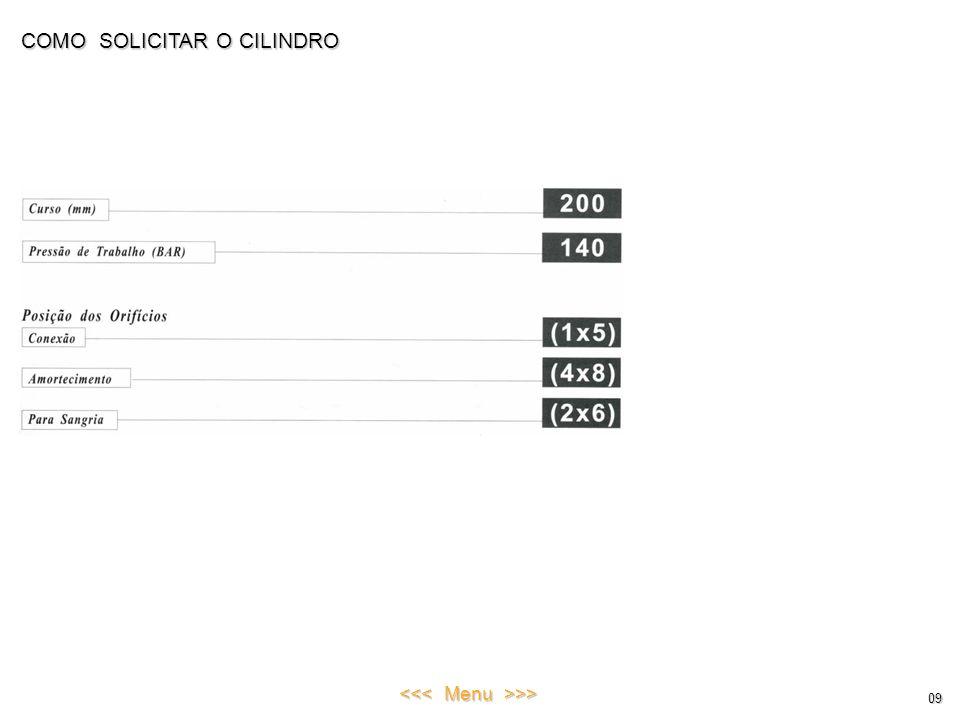COMO SOLICITAR O CILINDRO 09 <<< Menu >>>