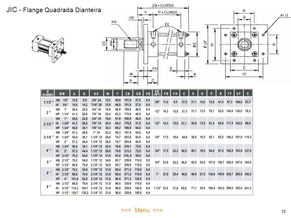 JIC - Flange Quadrada Dianteira 12 <<< Menu >>>