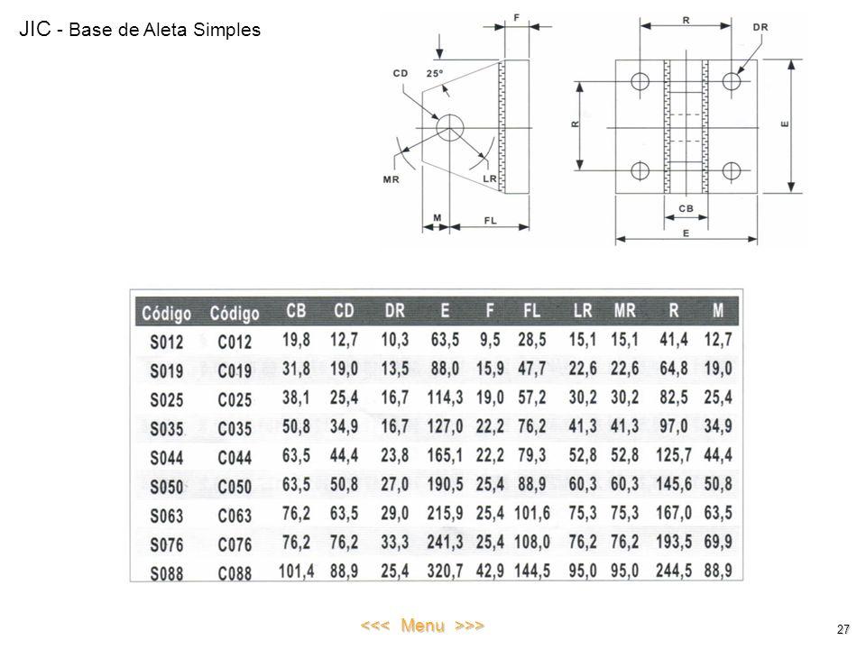 JIC - Base de Aleta Simples 27 <<< Menu >>>