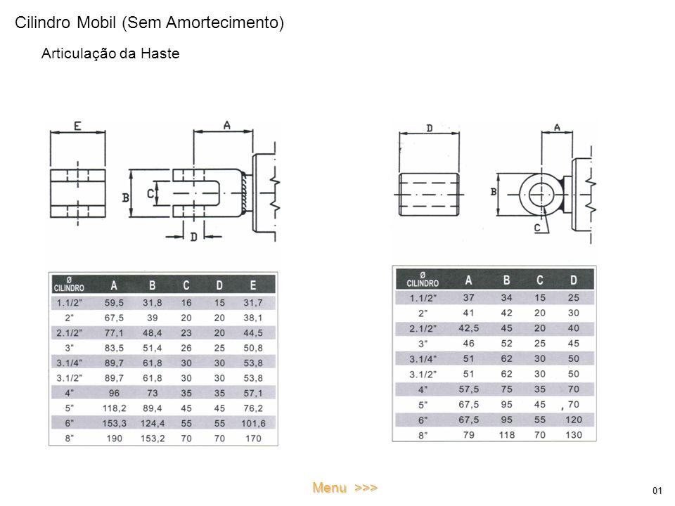Cilindro Mobil (Sem Amortecimento) Articulação da Haste 01 Menu >>>