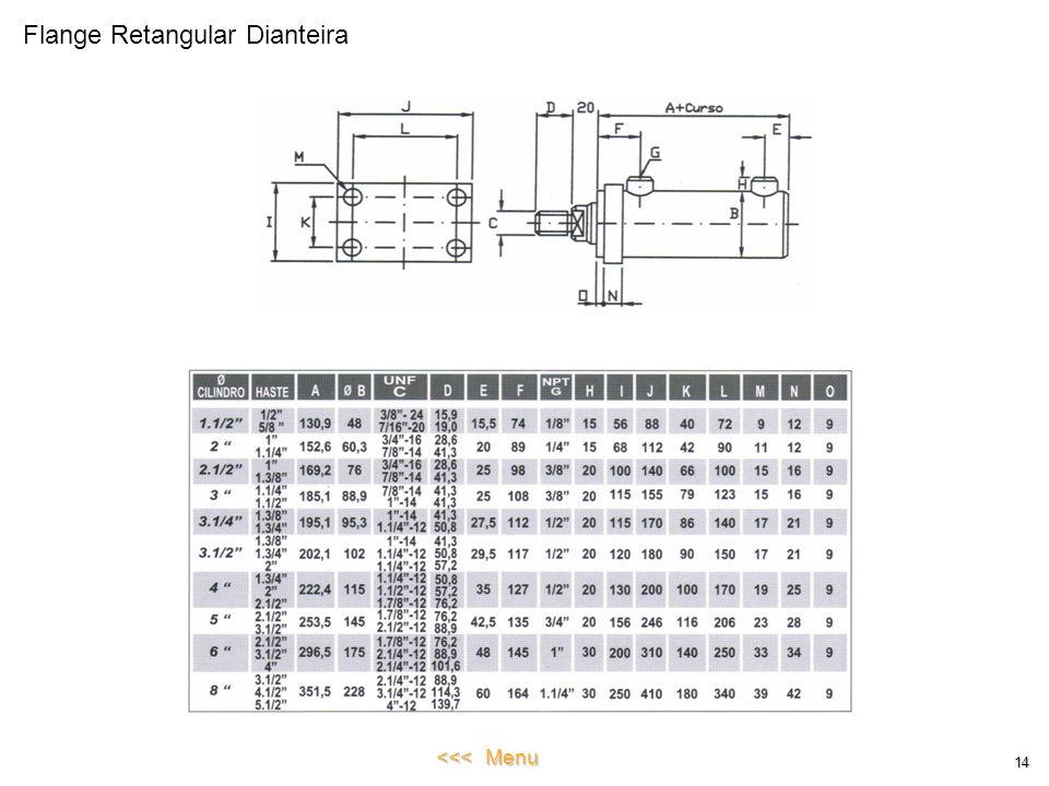 Flange Retangular Dianteira 14 <<< Menu