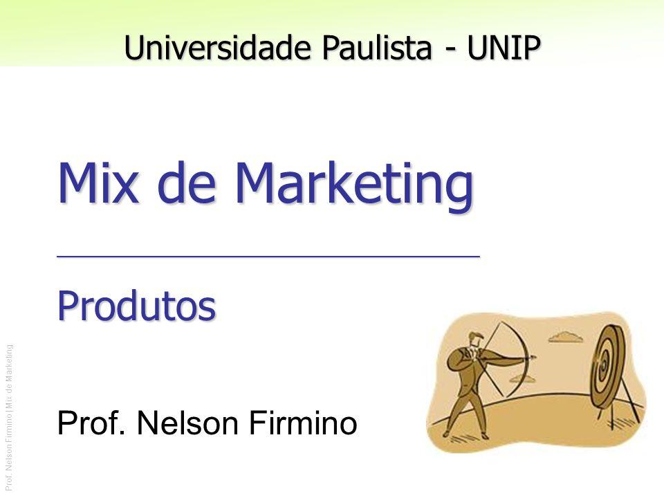 Prof. Nelson Firmino | Mix de Marketing Mix de Marketing __________________________________________ Produtos Prof. Nelson Firmino Universidade Paulist