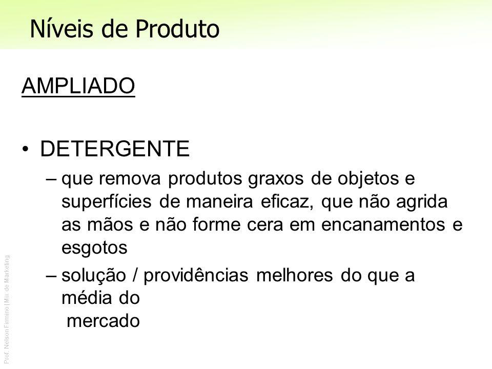 Prof. Nelson Firmino | Mix de Marketing AMPLIADO DETERGENTE –que remova produtos graxos de objetos e superfícies de maneira eficaz, que não agrida as