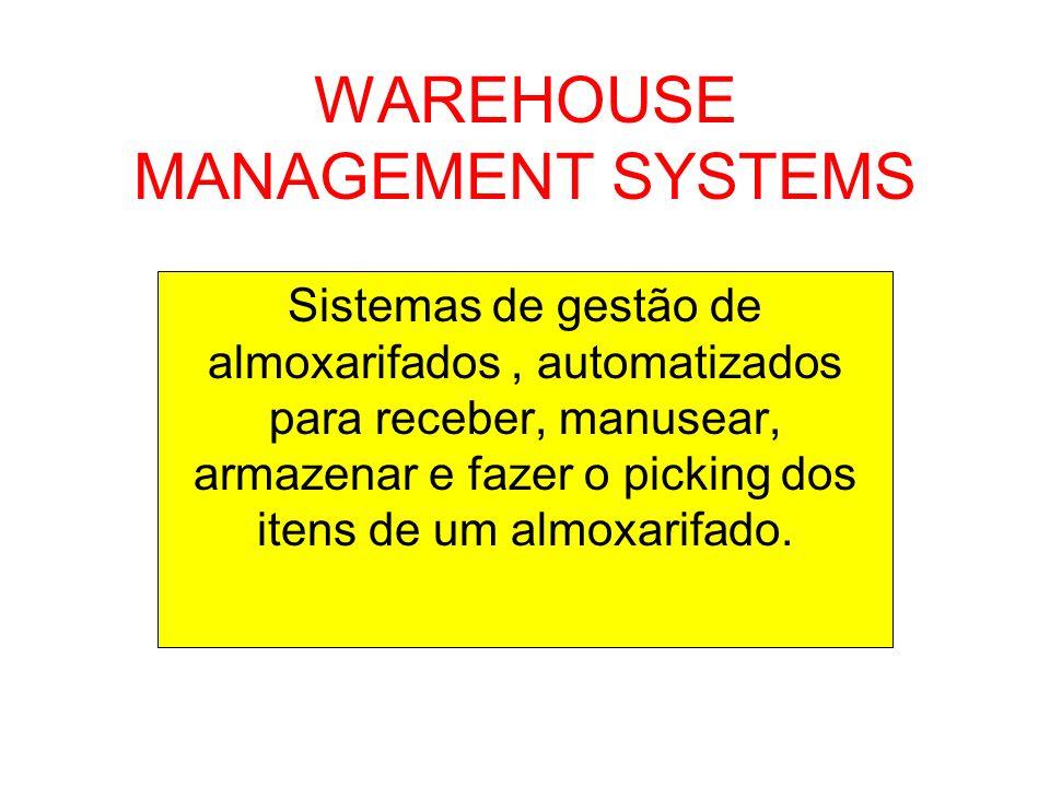 WAREHOUSE MANAGEMENT SYSTEMS Sistemas de gestão de almoxarifados, automatizados para receber, manusear, armazenar e fazer o picking dos itens de um al