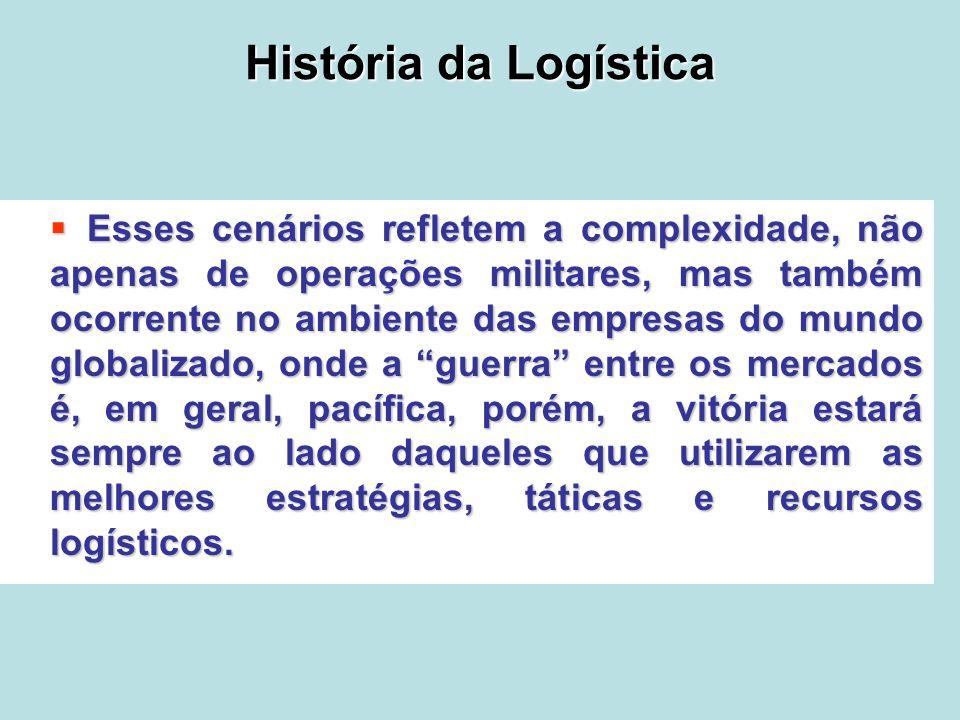 História da Logística Esses cenários refletem a complexidade, não apenas de operações militares, mas também ocorrente no ambiente das empresas do mund