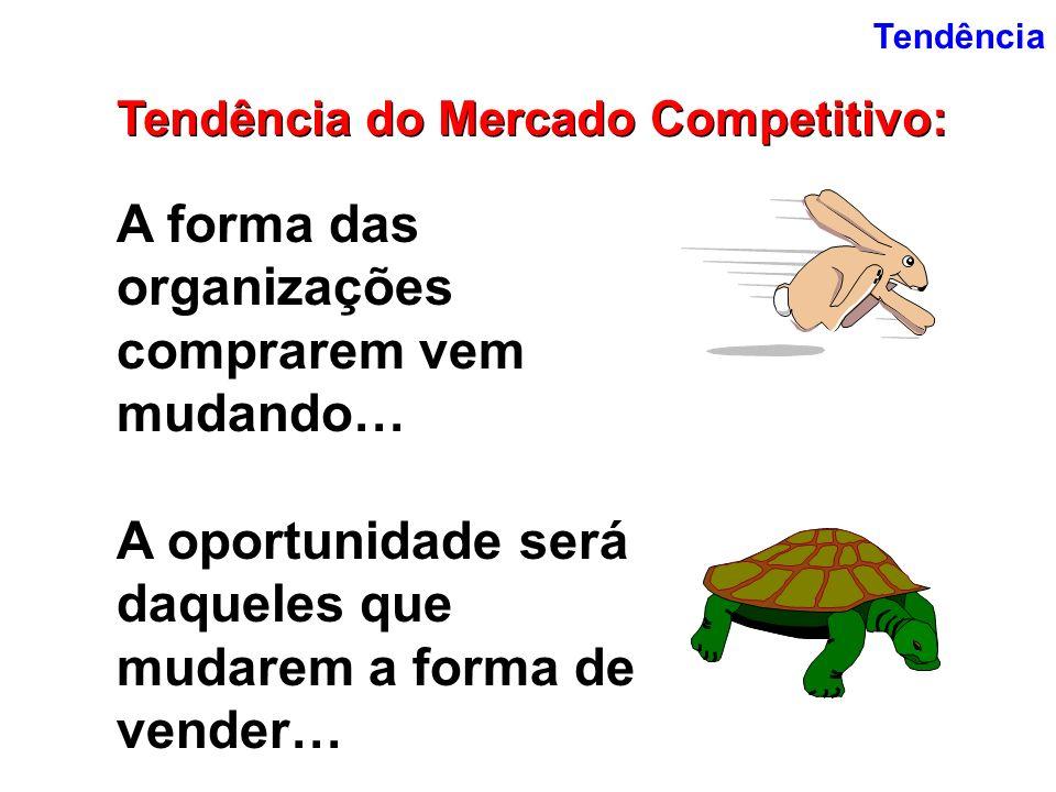 Tendência Tendência do Mercado Competitivo: A forma das organizações comprarem vem mudando… A oportunidade será daqueles que mudarem a forma de vender