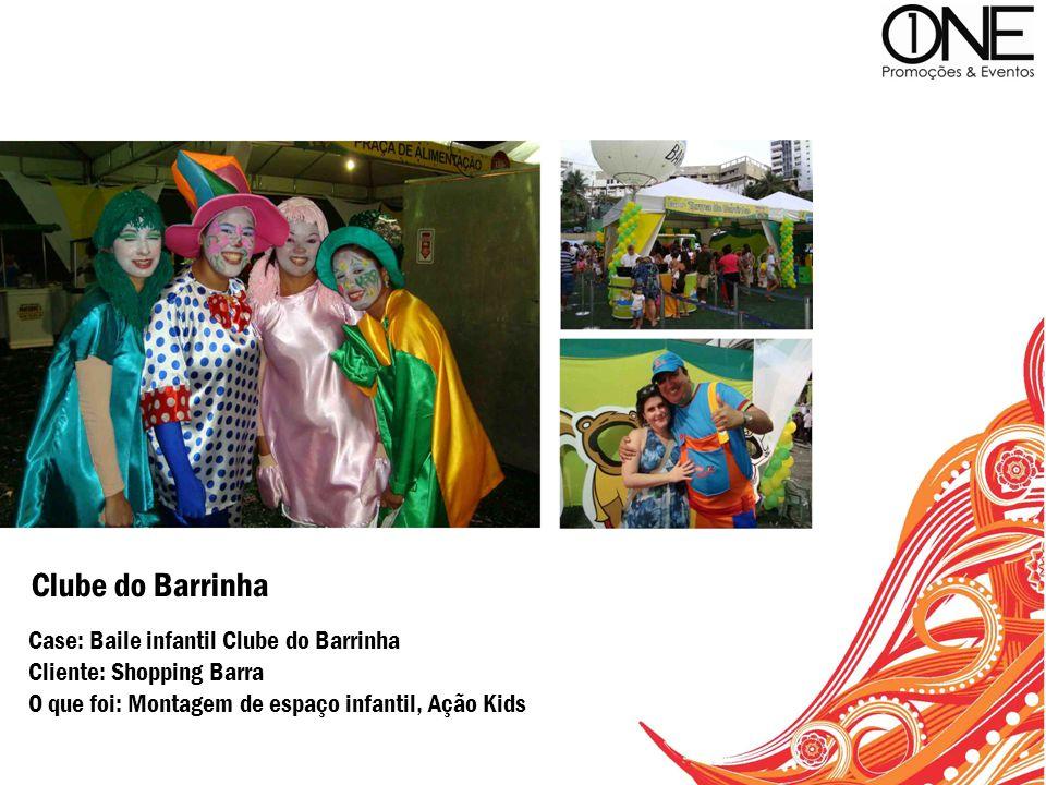 Case: Baile infantil Clube do Barrinha Cliente: Shopping Barra O que foi: Montagem de espaço infantil, Ação Kids Clube do Barrinha