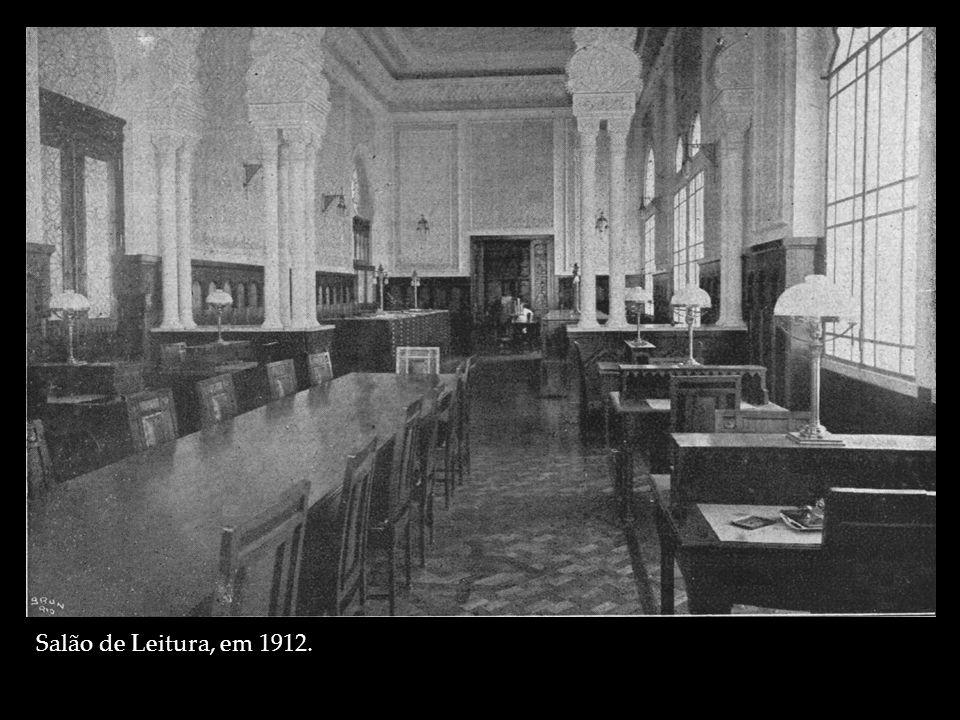 Salão de Leitura, em 1912.