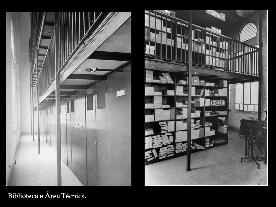 Biblioteca e Área Técnica.