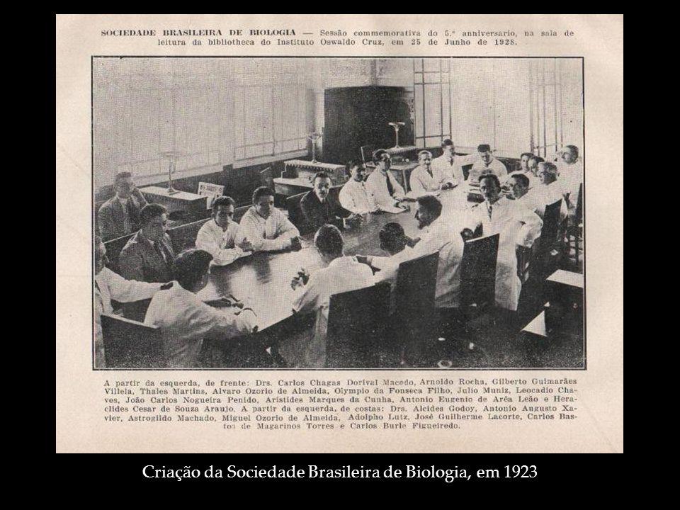 Criação da Sociedade Brasileira de Biologia, em 1923