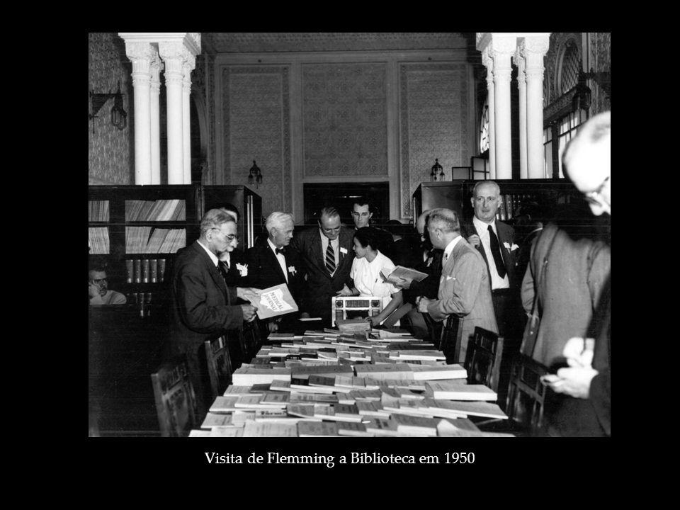 Visita de Flemming a Biblioteca em 1950