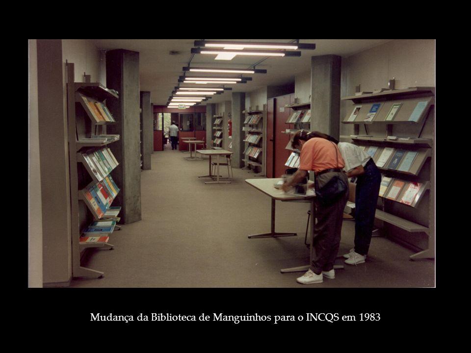 Mudança da Biblioteca de Manguinhos para o INCQS em 1983