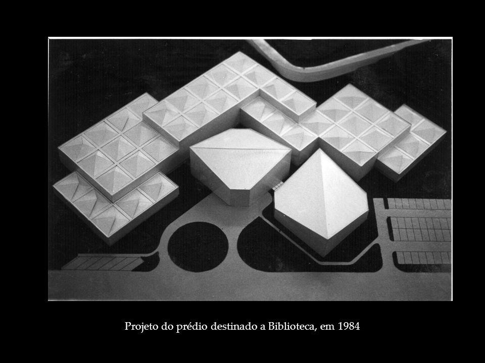 Projeto do prédio destinado a Biblioteca, em 1984