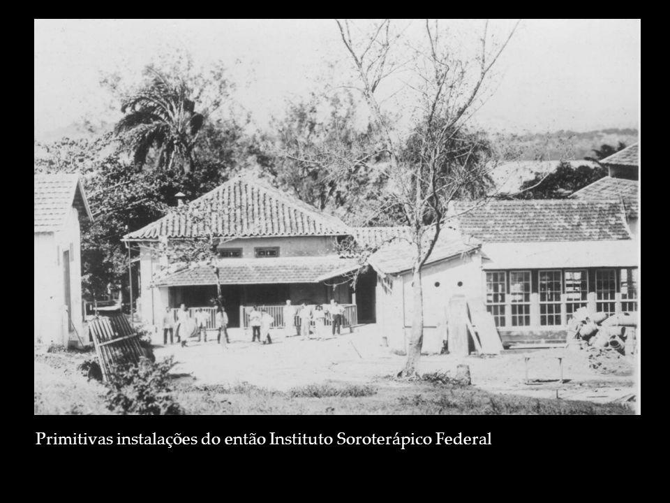 Primitivas instalações do então Instituto Soroterápico Federal