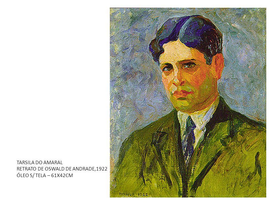 TARSILA DO AMARAL RETRATO DE OSWALD DE ANDRADE,1922 ÓLEO S/ TELA – 61X42CM