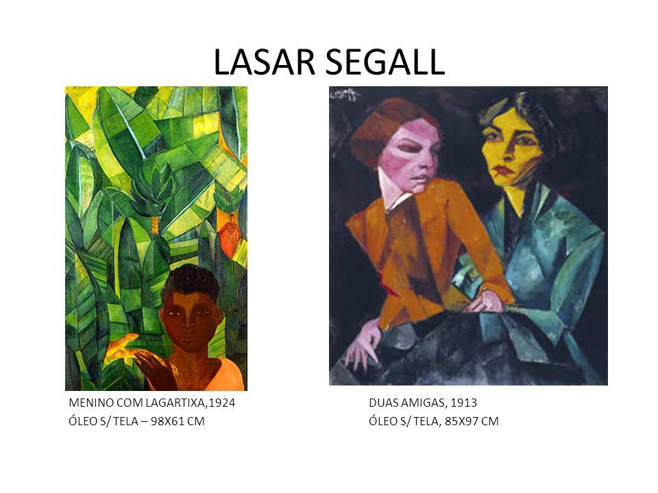 LASAR SEGALL MENINO COM LAGARTIXA,1924DUAS AMIGAS, 1913 ÓLEO S/ TELA – 98X61 CMÓLEO S/ TELA, 85X97 CM