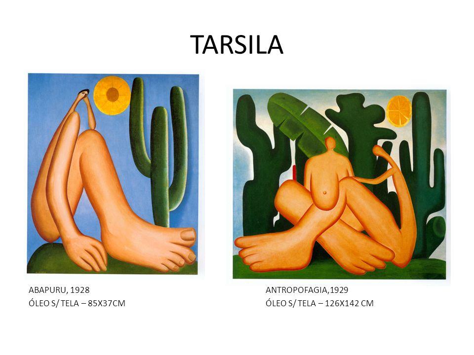 TARSILA ABAPURU, 1928ANTROPOFAGIA,1929 ÓLEO S/ TELA – 85X37CMÓLEO S/ TELA – 126X142 CM
