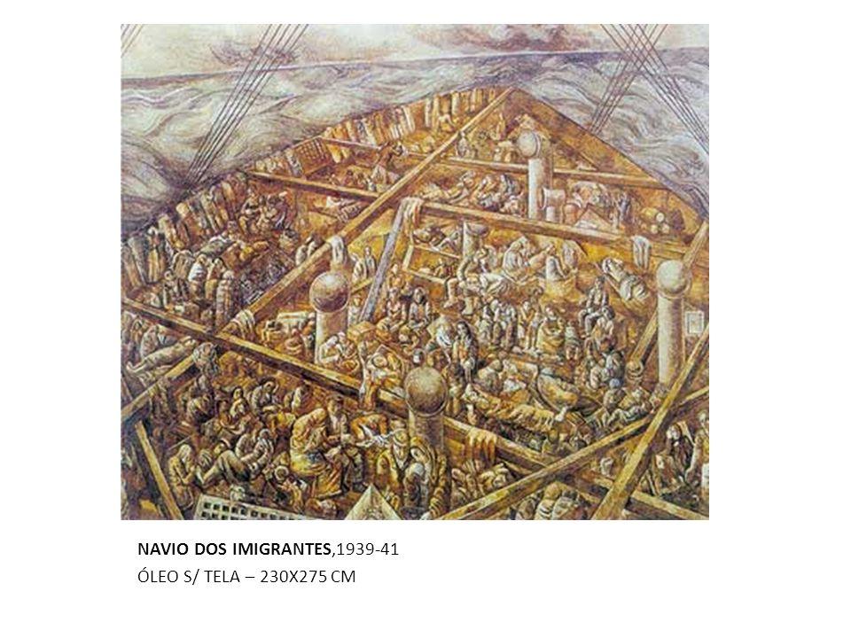 NAVIO DOS IMIGRANTES,1939-41 ÓLEO S/ TELA – 230X275 CM
