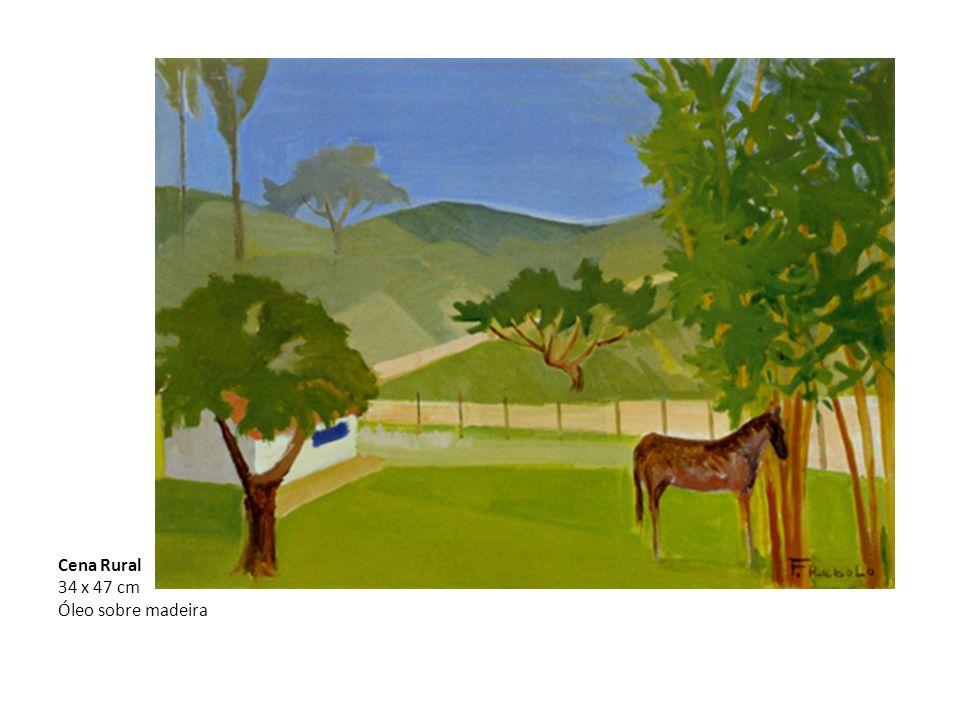 Cena Rural 34 x 47 cm Óleo sobre madeira
