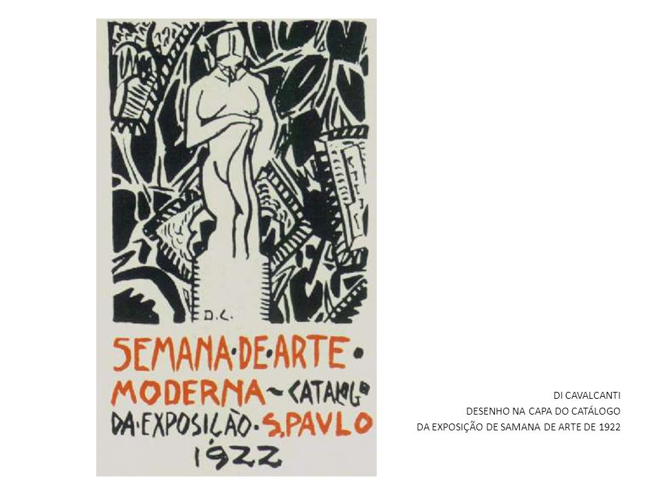 DI CAVALCANTI DESENHO NA CAPA DO CATÁLOGO DA EXPOSIÇÃO DE SAMANA DE ARTE DE 1922