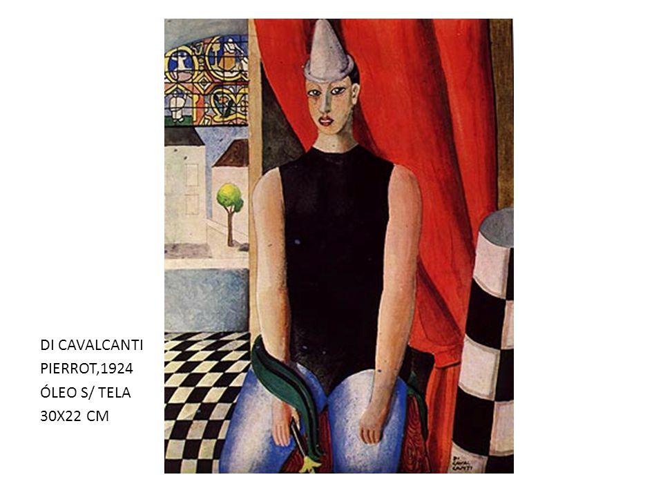 DI CAVALCANTI PIERROT,1924 ÓLEO S/ TELA 30X22 CM