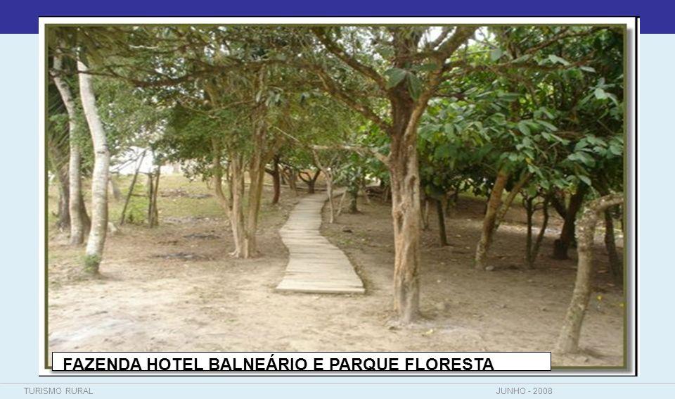 TURISMO RURALJUNHO - 2008 FAZENDA HOTEL BALNEÁRIO E PARQUE FLORESTA