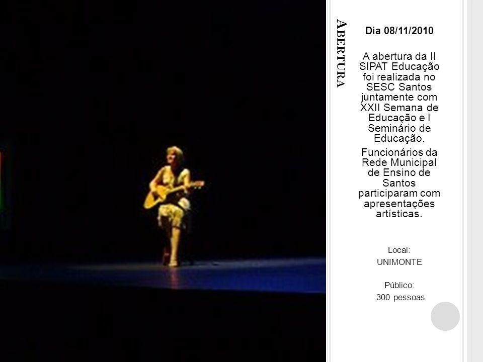 S ALA 1 º ANDAR Dia 11/11/2010 DST/AIDS Palestras ministradas pelas professoras Ana Lúcia Barbosa C.