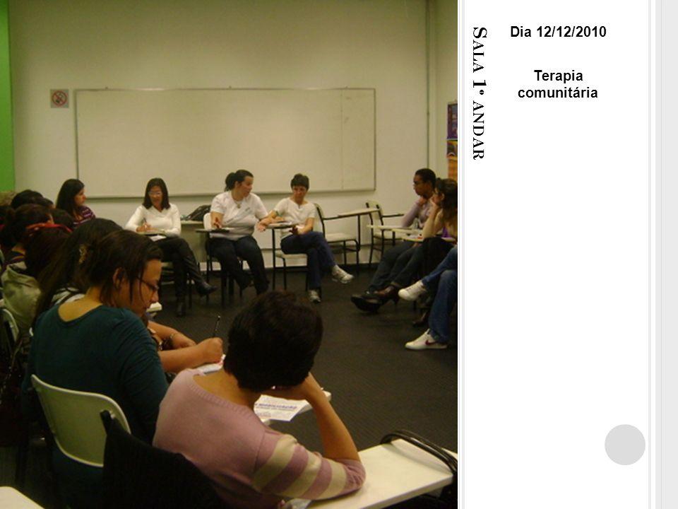 S ALA 1 º ANDAR Dia 12/12/2010 Terapia comunitária
