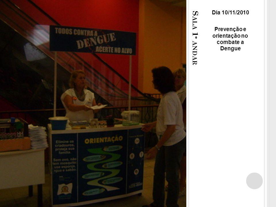 S ALA 1 º ANDAR Dia 10/11/2010 Prevenção e orientação no combate a Dengue