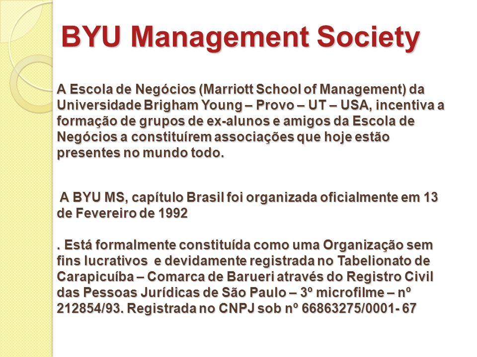A BYU MS, capítulo Brasil foi organizada oficialmente em 13 de Fevereiro de 1992. Está formalmente constituída como uma Organização sem fins lucrativo