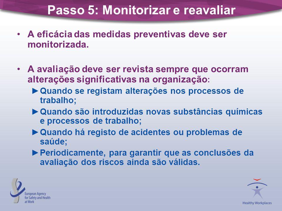 Registo da avaliação A avaliação dos riscos deve ser documentada.