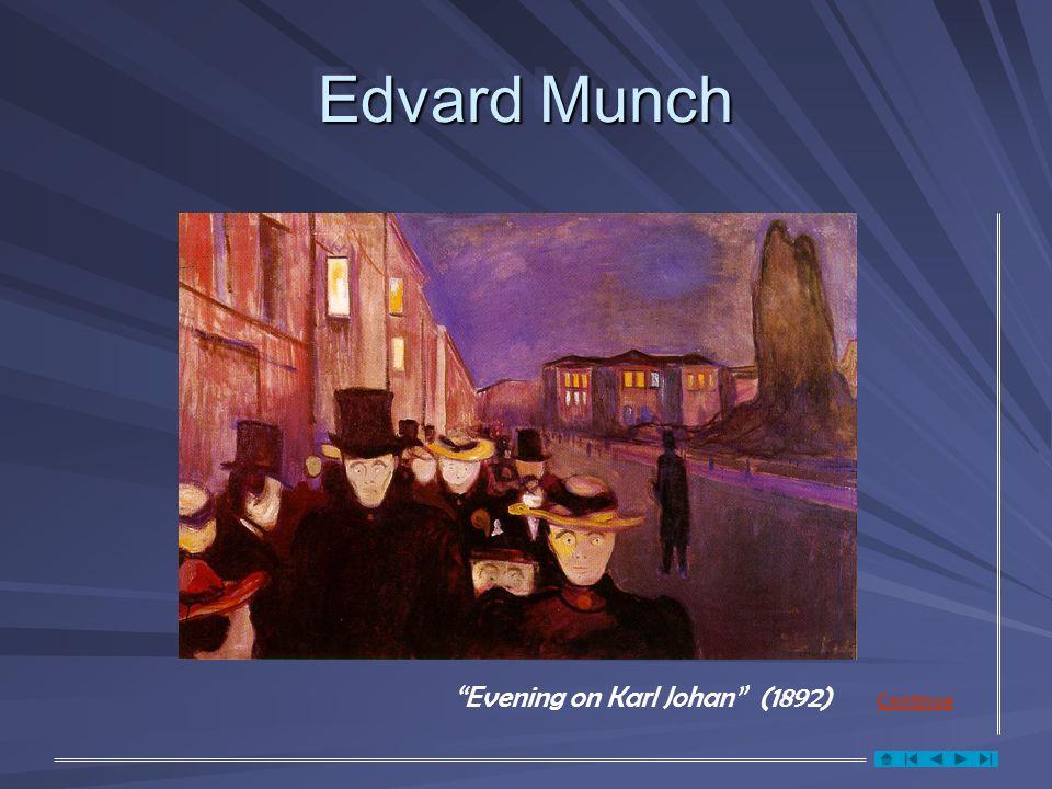 Edvard Munch Evening on Karl Johan (1892) Continua