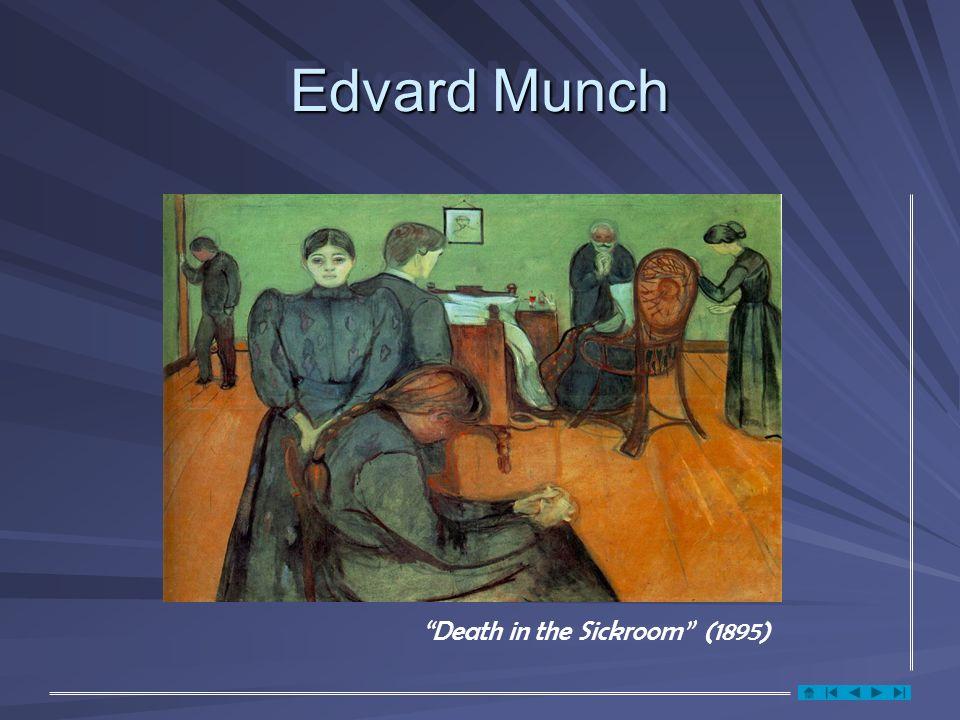 Edvard Munch Death in the Sickroom (1895)