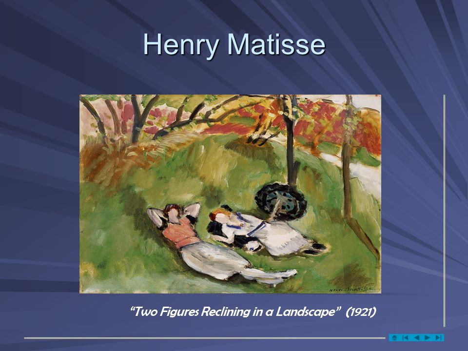 Henry Matisse Two Figures Reclining in a Landscape (1921)