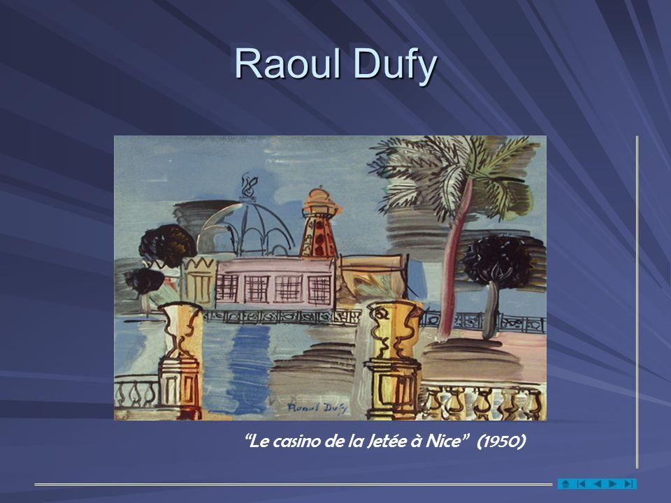 Raoul Dufy Le casino de la Jetée à Nice (1950)