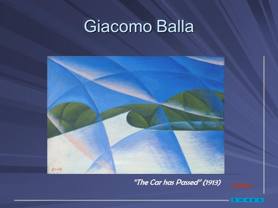Giacomo Balla The Car has Passed (1913) Continua