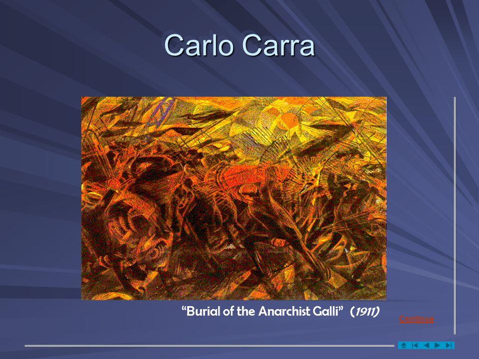 Carlo Carra Burial of the Anarchist Galli (1911) Continua