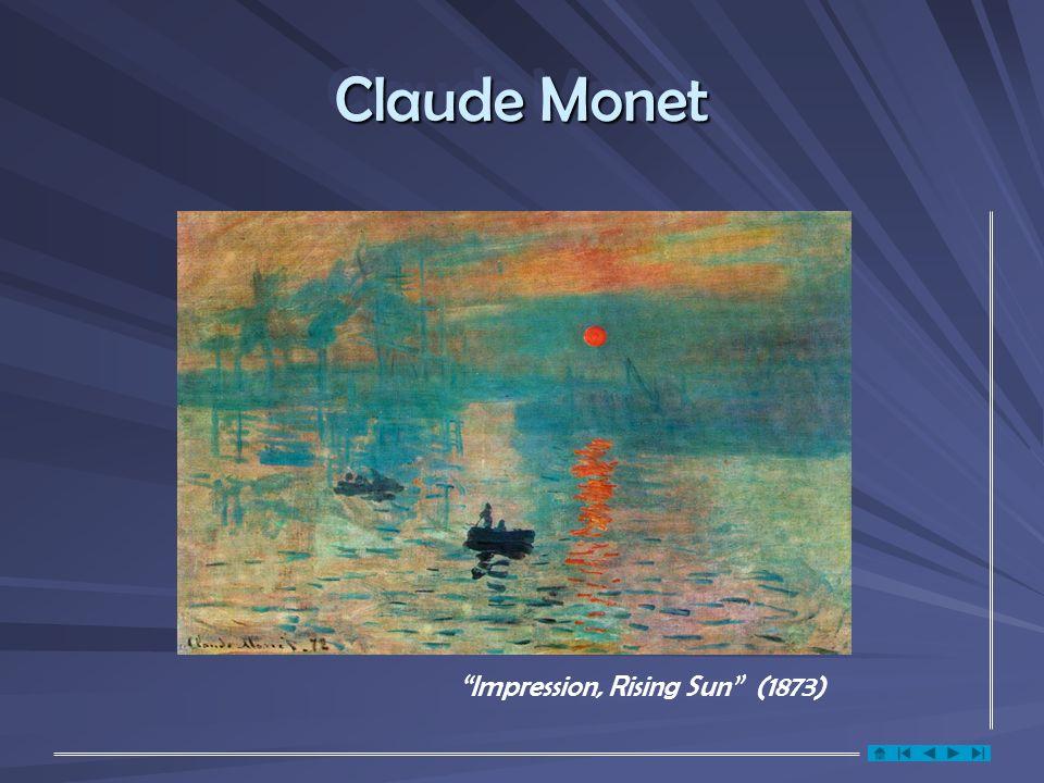 Claude Monet Impression, Rising Sun (1873)