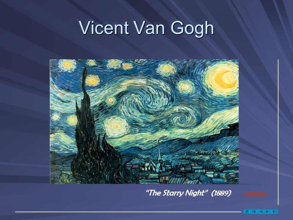 Vicent Van Gogh The Starry Night (1889) Continua