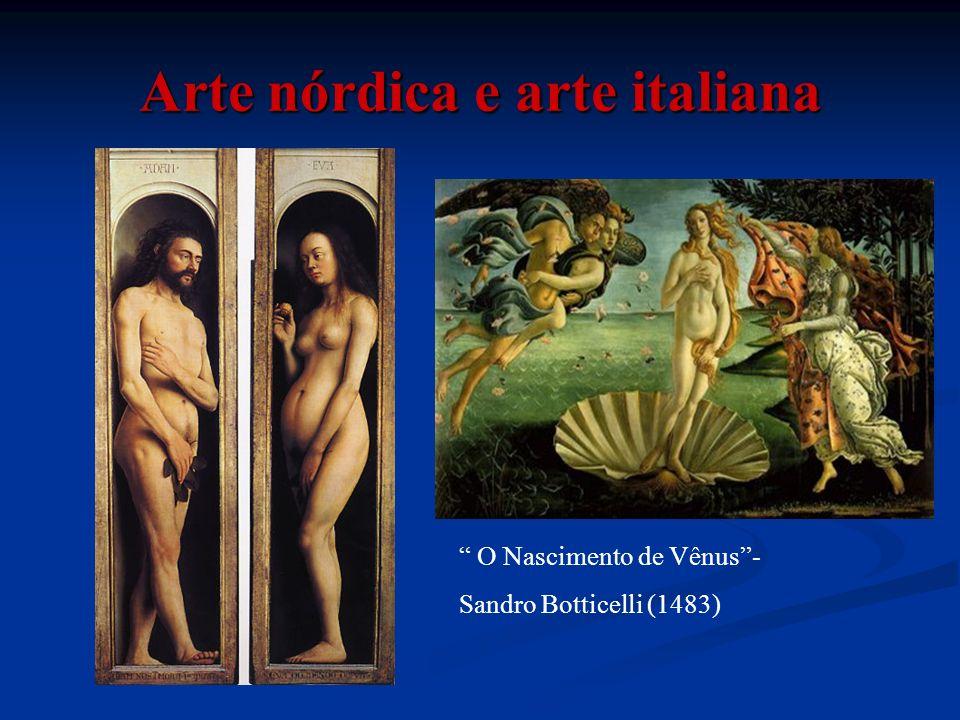 Arte nórdica e arte italiana O Nascimento de Vênus- Sandro Botticelli (1483)