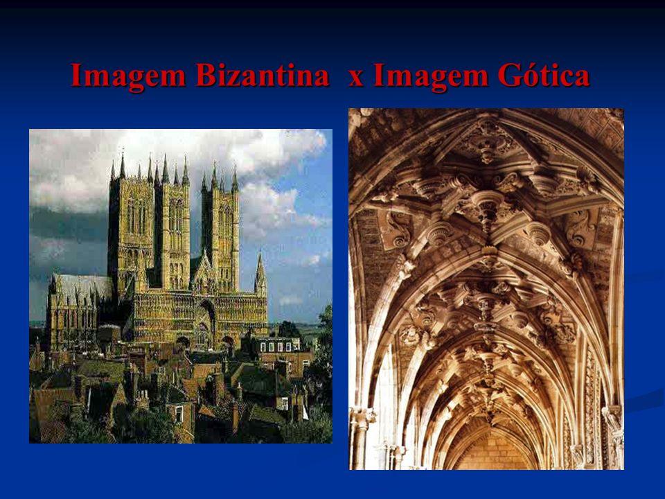 Imagem Bizantina x Imagem Gótica