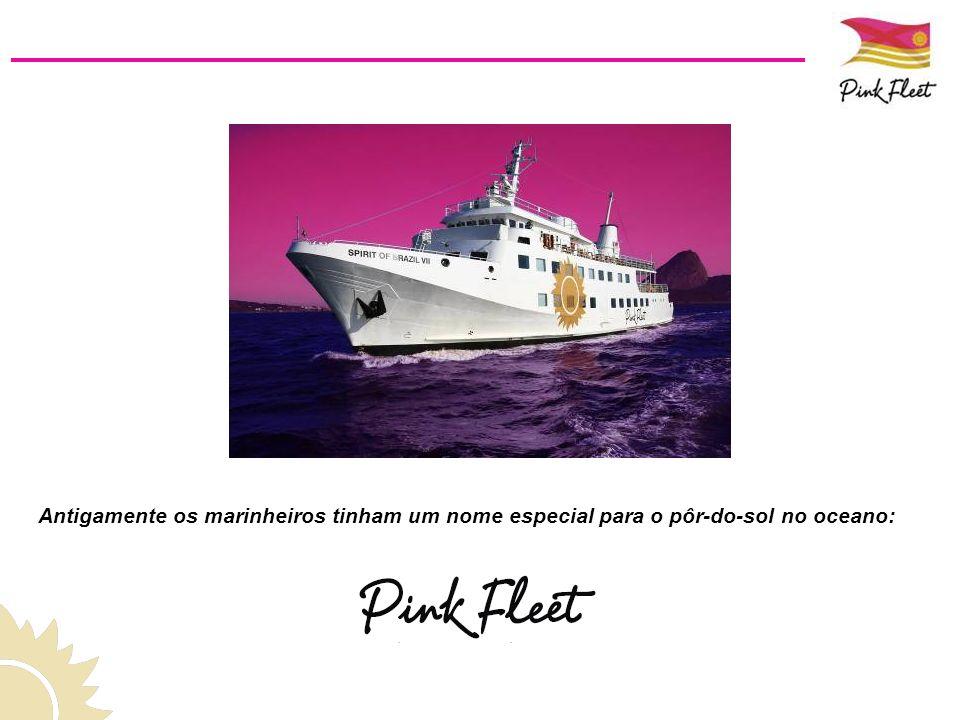 Nome: Spirit of Brazil VII Comprimento: 180 pés 4 Conveses com 6 ambientes Passageiros: 350 pessoas Tripulação & Equipe: até 50 pessoas Dentro do conceito uniqueness, o Pink Fleet é a grande novidade do Rio de Janeiro.